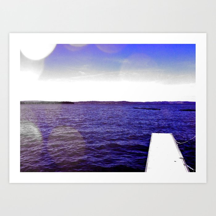 On the Blue Blue Water Art Print