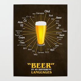 """Beer"" in 45 different languages Poster"