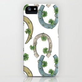 Horseshoes & Clovers iPhone Case