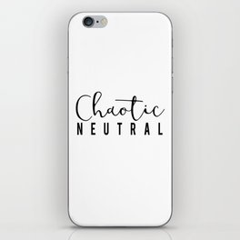 Chaotic Neutral iPhone Skin