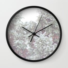 Winter Evergreen Wall Clock
