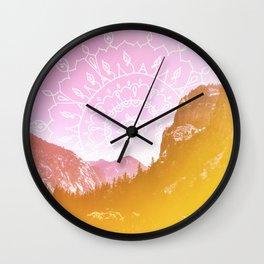 Boho Hipster Mandala Landscape Wall Clock
