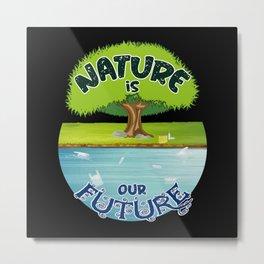 Climate Change Future Planet Earth CO2 Gift Idea Metal Print