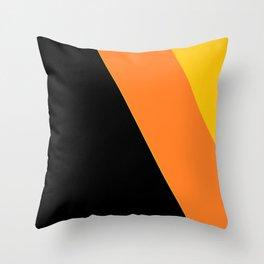 Black, Orange, Yellow Throw Pillow