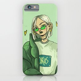 Green girl iPhone Case