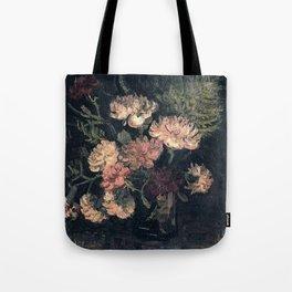 Vincent van Gogh Vase With Carnations 1886 Tote Bag