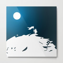 Moon Walker Metal Print