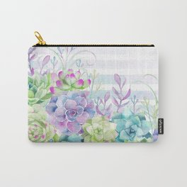 Summer Succulents Carry-All Pouch