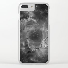 Stars and Space Dust B&W Clear iPhone Case