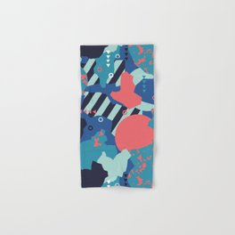 Vivid Collaged Geometric Tribal Abstract Geo Native Hand & Bath Towel