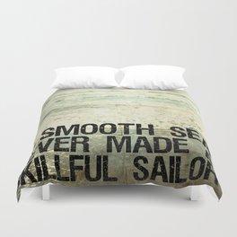 A Smooth Sea Duvet Cover