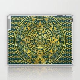 Gold  Aztec Inca Mayan Calendar Laptop & iPad Skin