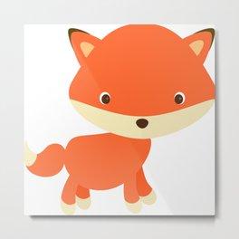 Cute Fox 2 Metal Print