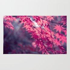 Autumn foliage in backlight Rug