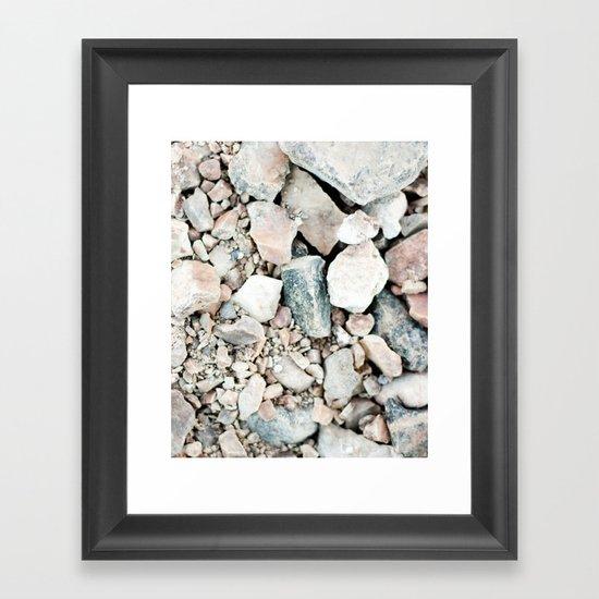 Stone Cold Fox Framed Art Print