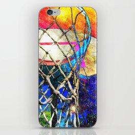 Colorful Basketball Art iPhone Skin