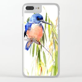 KIngfisher and Weeping Willow Clear iPhone Case