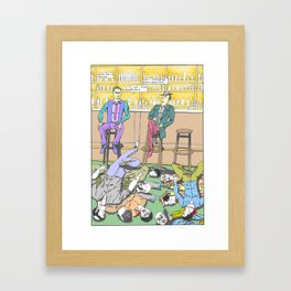 Bar Death Scene Framed Art Print