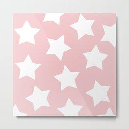 Happy Pink Star Print Metal Print