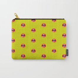 SEXY LIPS ((chartreuse)) Carry-All Pouch
