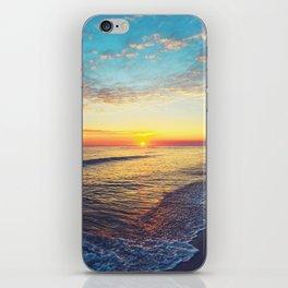 Summer Sunset Ocean Beach - Nature Photography iPhone Skin