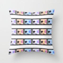 Movie stripes Throw Pillow