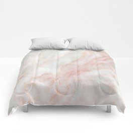 Softest blush pink marble Comforters