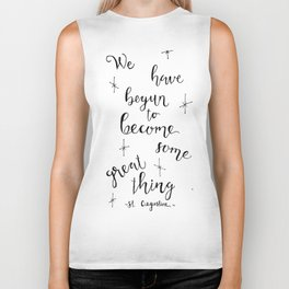 Some Great Thing: Black and White Biker Tank