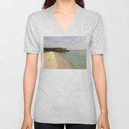 Beach view Unisex V-Neck