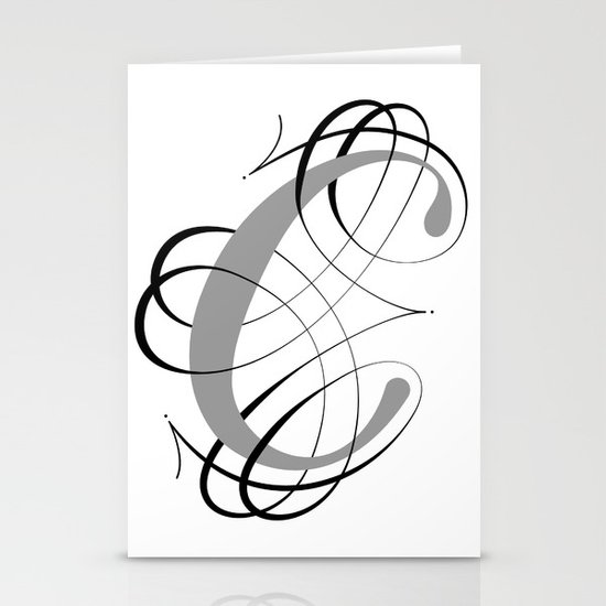 The Letter C Stationery Cards