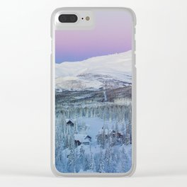 The Snow Mountains (Color) Clear iPhone Case