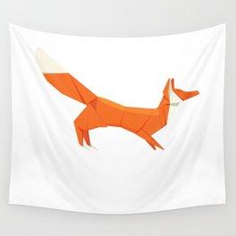 Origami Fox Wall Tapestry