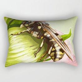 Wasp on flower 6 Rectangular Pillow