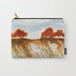 Firebranch Ridge, Watercolor Abstract Landscape Art Carry-All Pouch