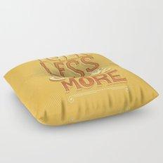 Talk Less Smile More Floor Pillow