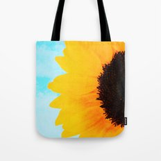 Half A SunFlower  Tote Bag