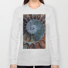 Spiral Ammonite Fossil Long Sleeve T-shirt