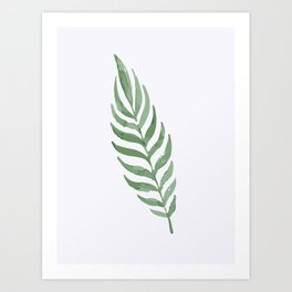 Lonely Leaf Art Print