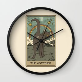 The Asterisk Wall Clock