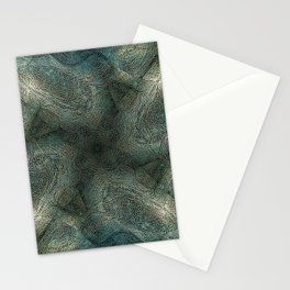 Graphic symmetric design background Stationery Cards
