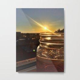 Cider Sunburst Metal Print