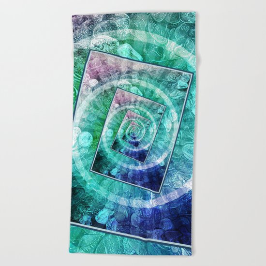 Spinning Nickels Into Infinity Beach Towel