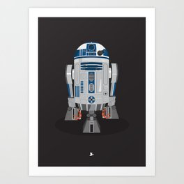 Space Wars - Robot Art Print