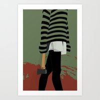 there will be blood Art Prints featuring blood by Eda ERKOVAN