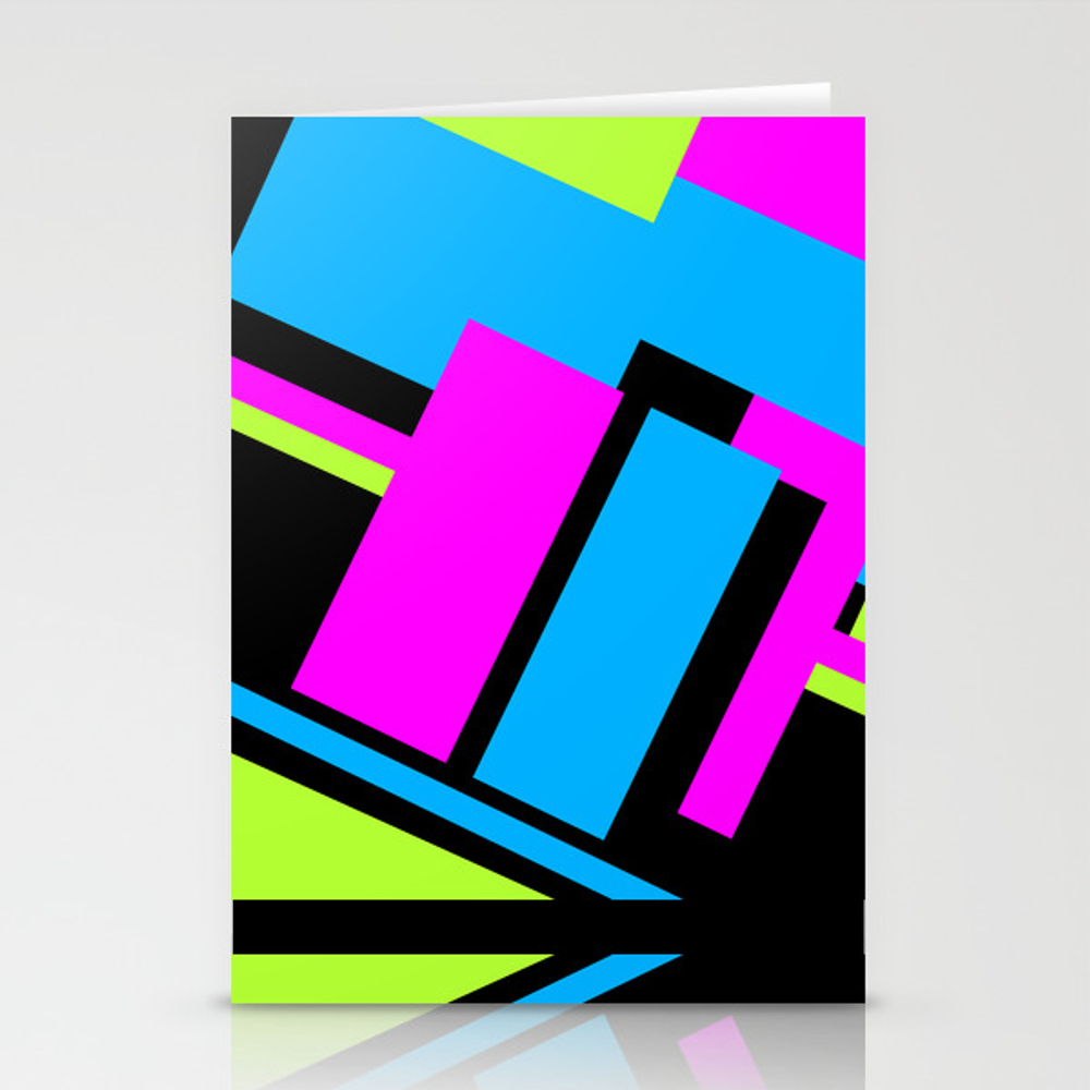 Active Colorblock Stationery Cards by Underwatercity CRD8753878
