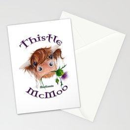 Thistle MacKenzie-McMoo by Fiona Bárcenas Stationery Cards