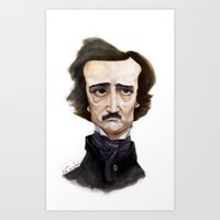poe Art Prints featuring Poe by Vito Quintans