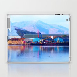 Industrial reflection at mountains edge Laptop & iPad Skin