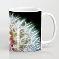 dandelion Mugs featuring Fractal dandelion by Mark Nelson