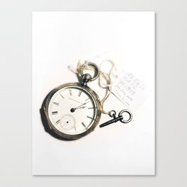 A Tinkering Watch Canvas Print